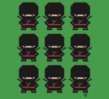 Mekkachibi Ninja Army (Black) One Piece - Short Sleeve