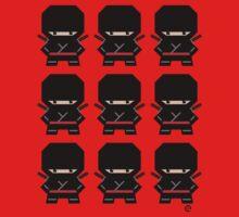 Mekkachibi Ninja Army (Black) Kids Tee