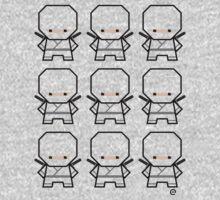 Mekkachibi Ninja Army (Custom Color) Kids Tee