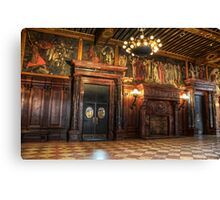 Boston Library Wood Room Canvas Print