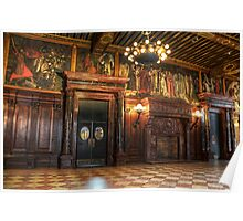 Boston Library Wood Room Poster