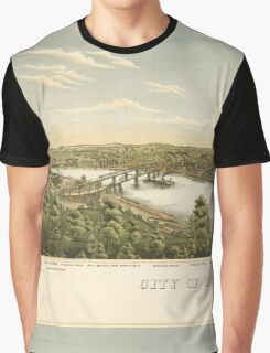 Panoramic Maps City of McKeesport  vicinity Graphic T-Shirt