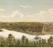 Panoramic Maps City of McKeesport  vicinity Sticker