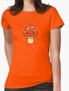 Kawaii red toadstool Womens Fitted T-Shirt