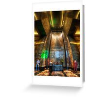 Empire State Lobby Vertorama Greeting Card
