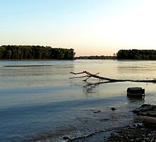 Mississippi River - Godfrey, IL by Tracy Engle