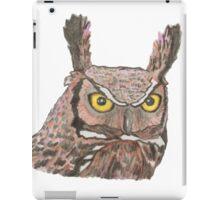 Owl watercolour pencil sketch iPad Case/Skin