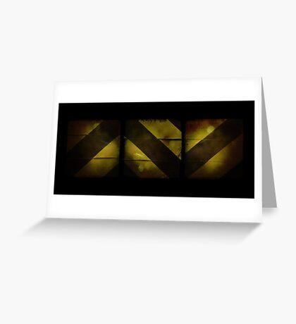 Cambridge Collection: Warning Yellow Greeting Card