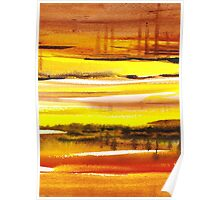 Reflections Abstract Landscape  Poster