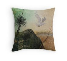 LANDSCAPE OF THE LOST COCKATOO Throw Pillow