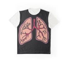Funny cartoon lungs - Respiratory system Graphic T-Shirt