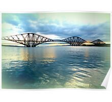 Forth Rail Bridge Reflections Poster