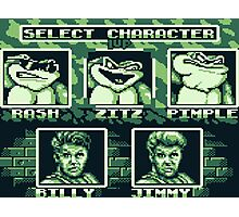 Battletoads - Select Character Photographic Print