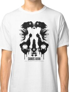 Samus Aran Metroid Geek Ink Blot Test Classic T-Shirt