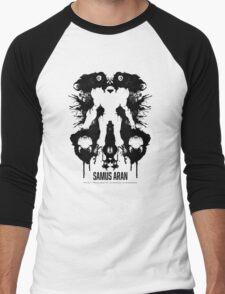 Samus Aran Metroid Geek Ink Blot Test Men's Baseball ¾ T-Shirt