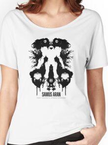 Samus Aran Metroid Geek Ink Blot Test Women's Relaxed Fit T-Shirt