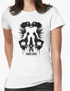 Samus Aran Metroid Geek Ink Blot Test Womens Fitted T-Shirt
