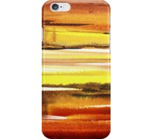 Warm Reflections Abstract Landscape iPhone Case/Skin