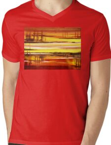 Warm Reflections Abstract Landscape Mens V-Neck T-Shirt