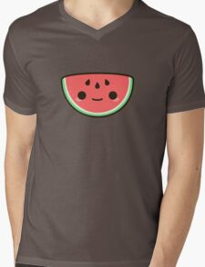 Kawaii watermelon Mens V-Neck T-Shirt