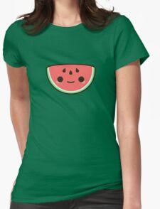 Kawaii watermelon Womens Fitted T-Shirt