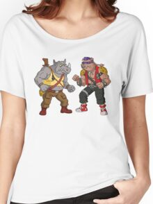 Bebop Rocksteady - Funny big print Women's Relaxed Fit T-Shirt