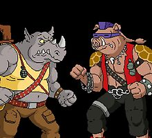 Bebop Rocksteady - Funny big print by MagicRoundabout