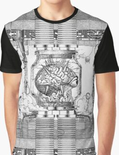 Vintage Metroid Mother Brain Engraving Graphic T-Shirt