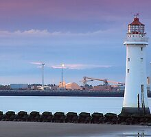 Perch Rock Lighthouse at dusk by Andrew Cooper