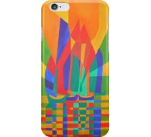 Dreamboat - Cubist Junk In Primary Colors iPhone Case/Skin