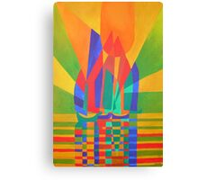 Dreamboat - Cubist Junk In Primary Colors Canvas Print