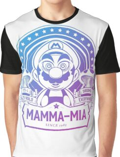 Super Mario Ate One Spicy Mushroom Graphic T-Shirt
