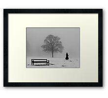 Winter Morning Walk Framed Print