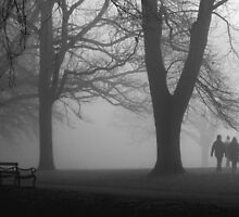 Misty Morning in the Park by KUJO-Photo