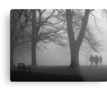 Misty Morning in the Park Metal Print