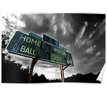 Old Baseball Scoreboard - The Diamond- Greenham Poster