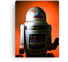 Retro Cropped Toy Robot 02 Canvas Print