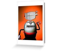 Retro Cropped Toy Robot 03 Greeting Card
