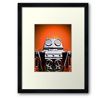 Retro Cropped Toy Robot 04 Framed Print