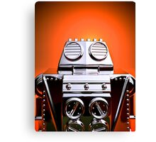 Retro Cropped Toy Robot 04 Canvas Print