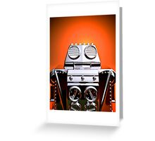 Retro Cropped Toy Robot 04 Greeting Card