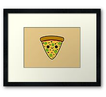 Yummy spicy pizza Framed Print