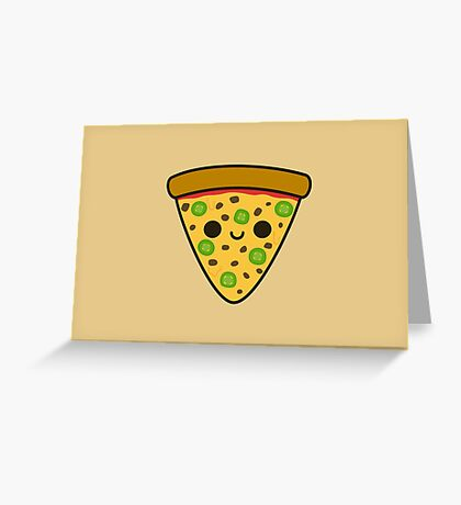 Yummy spicy pizza Greeting Card