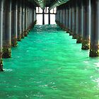 Peering Beneath the Pier by M-EK