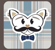 HeartKitty Plaid Sophisti-Cat by LoPowDesign