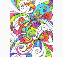 Floral Doodle Drawing Unisex T-Shirt