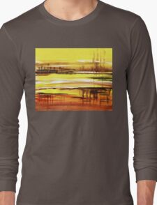 Reflection Abstract Landscape Long Sleeve T-Shirt