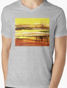Reflection Abstract Landscape Mens V-Neck T-Shirt