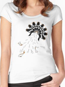 Penguin Flowers Women's Fitted Scoop T-Shirt