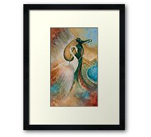 LEDA AND THE SWAN Framed Print